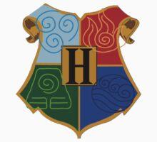 Avatar Element Hogwarts Shield by Zac Reynolds