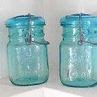 Mason Jar One by Marijane  Moyer