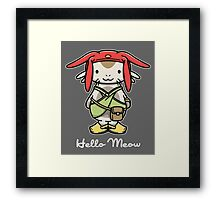 Hello Meow Framed Print