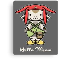 Hello Meow Canvas Print