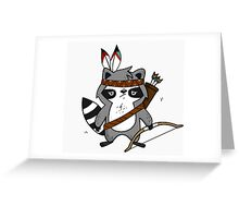 Apache The Raccoon Greeting Card