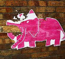 Tattered Pink Elephant © by Ethna Gillespie