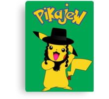 Pikachu - Pikajew , Pokemon Canvas Print