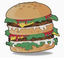 Cartoon Hamburger Kids Clothes