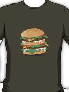 Cartoon Hamburger T-Shirt