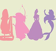 Princess Silhouettes - Pink and Purple by LookItsHailey