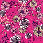 Pink floral by Rose1122