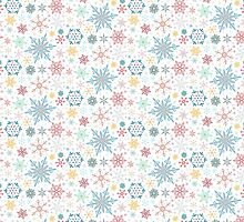 Elegant Winter Snowflake Pattern by AntiqueImages