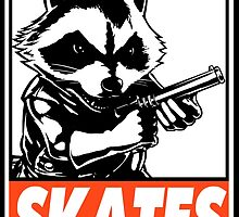 Rocket Raccoon Skates Obey Design by SquallAndSeifer