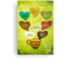 What my #Tea says to me - February 12, 2014 Poster Metal Print