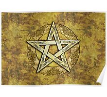 Ornate Pentacle, Pentagram Poster