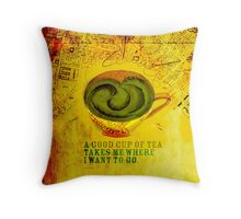 What my #Tea says to me - September 26, 2012 Throw Pillow