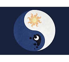 Celestia and Luna Yin Yang Photographic Print