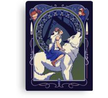 Wolf Princess Nouveau Canvas Print