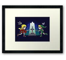 Master Sword in the Stone Framed Print