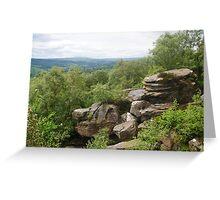 Brimham Rocks,  Brimham Moor, North Yorkshire, UK Greeting Card