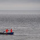 Two men in a boat by Photography  by Mathilde