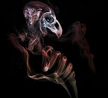 Smoke bird skull by JBlaminsky