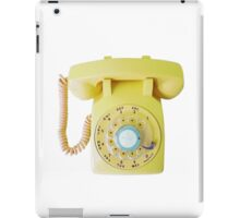 call me (yellow) iPad Case/Skin