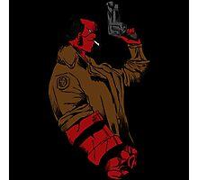 Hellboy Profile Photographic Print