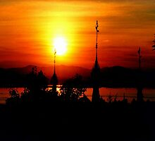 Sunset from Shampoo Island © by Ethna Gillespie