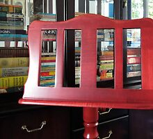 The Beauty of Wood - Music Stand and Books by BlueMoonRose
