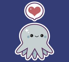 Cute Blue Octopus by sugarhai