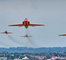 Red Arrows Take Off HDR - Farnborough 2014 Sticker