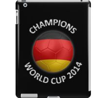 Germany - World Cup Champions 2014 - German Flag Football Soccer Ball iPad Case/Skin