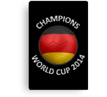 Germany - World Cup Champions 2014 - German Flag Football Soccer Ball Canvas Print