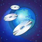 CDs & Globe by lydiasart