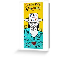 Stevie Ray Vaughan Blues Folk Art Greeting Card
