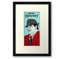 Bear Bryant Alabama Football Folk Art Framed Print
