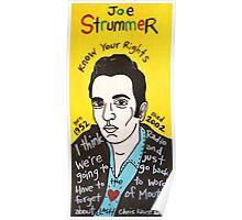 Joe Strummer Punk Folk Art Poster