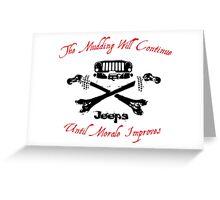 Jeep Skull and Cross Bones T-Shirt Greeting Card