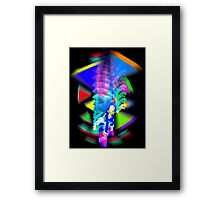 Sonic Color Trip Framed Print