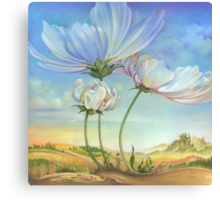In the Half-shadow of Wild Flowers Canvas Print