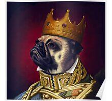 The Pug King Poster