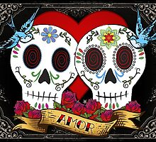 Love Skulls by Tammy Wetzel