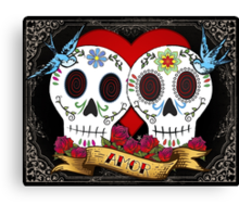 Love Skulls Canvas Print