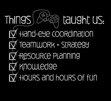 Things games taught us by ihazbackup