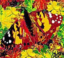 Abstract Butterfly #4 Autumn by Saundra Myles
