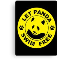 swim for gold Canvas Print