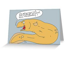 It's a moray. Greeting Card