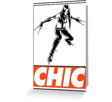 X-23 Chic Obey Design Greeting Card