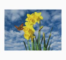 Copper Butterfly with Daffodils  Kids Clothes