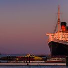 Queen Mary at sunset by Celeste Mookherjee