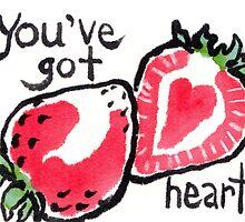 Strawberry Heart by dosankodebbie