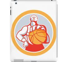 Basketball Player With Ball Circle Retro iPad Case/Skin