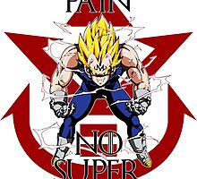 No Pain No Super Saiyan Majin Vegeta by TheRising